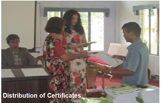 Distribution of Certificates - DIET