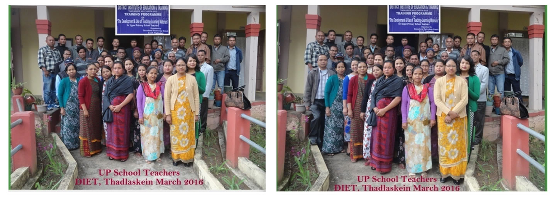 UP school teachers DIET Thadlaskein march 2016